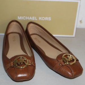 MICHAEL Michael Kors Shoes - MICHAEL KORS FULTON MOC FLATS LUGGAGE LEATHER SHOE